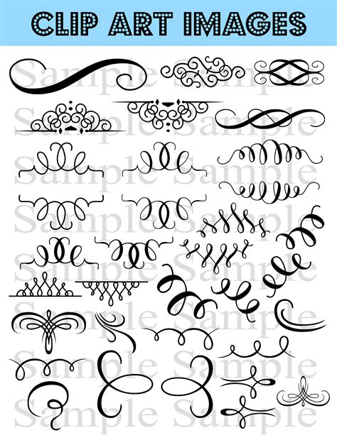 Wedding Flourish Clipart by 34 Flourish Wedding Clipart Swirl Flourishes Clip