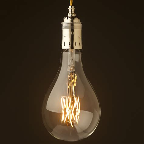 Pendant Lighting Edison Bulb Edison Style Light Bulb E40 Nickel Pendant
