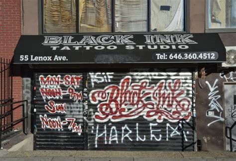 black ink tattoo shop exclusive sues harlem shop after infection