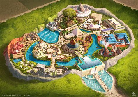 a themed theme park design mauricio abril storytelling art