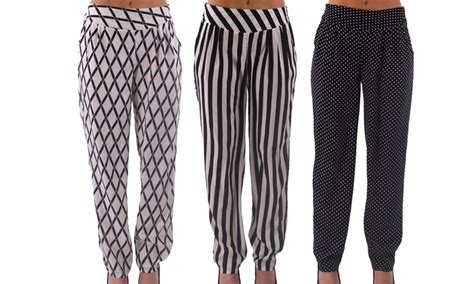 comfortable dress pants for women women s soft printed pants groupon goods