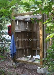 eco shower rustic outdoor shower made from salvaged