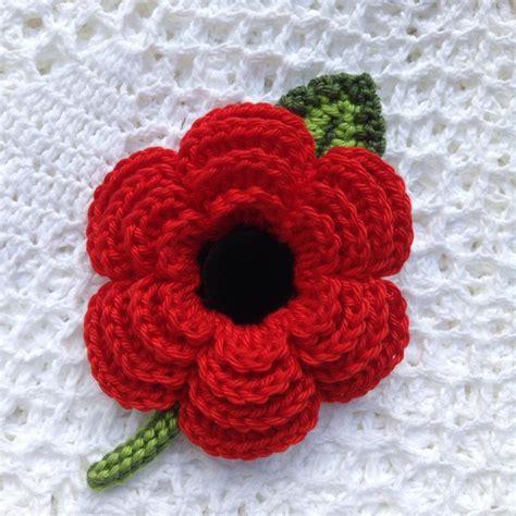 pattern to crochet a poppy crochet flower poppy brooch cotton velvet button 8 8 5cm