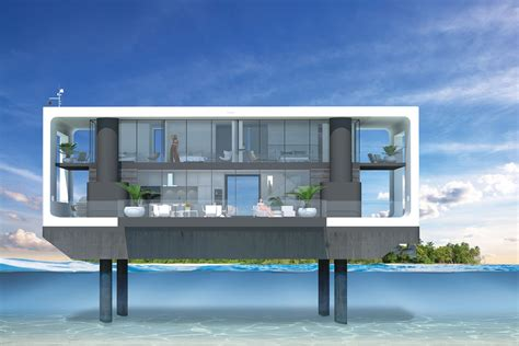 s day house by water answering miami s sea level issues could be these sleek