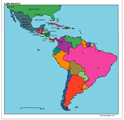 political map of south america america political map