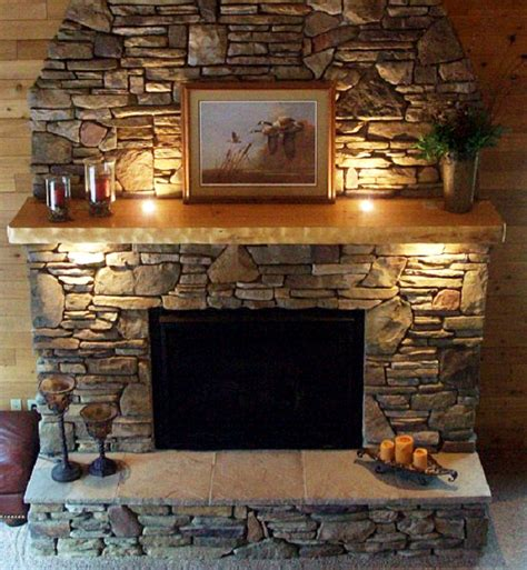 Fireplace Fireplace Mantel Designs Natural Stone Firepace Lights In Fireplace