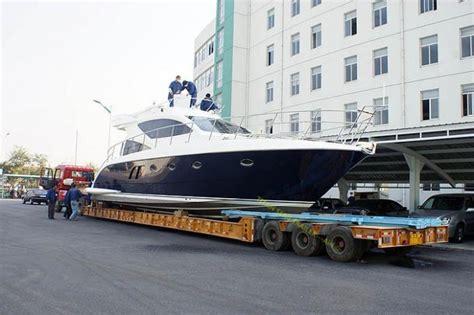 100 ton steel hg60 heavy haul lowboy trailer heavy semi - Semi Boat Trailer