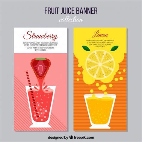 design banner juice fruit juice banners vector free download