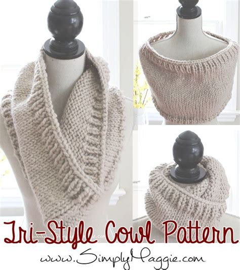free cowl knitting pattern free knitting pattern for chunky tri style cowl simply