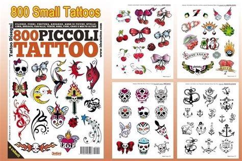 800 small tattoo flash book 66 pages heart stars crosses