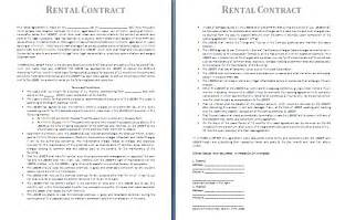 rental contract template free contract templates