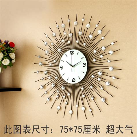 wall clock for living room luxury large living room wall clock fashion e quartz personalized modern wall clock fashion