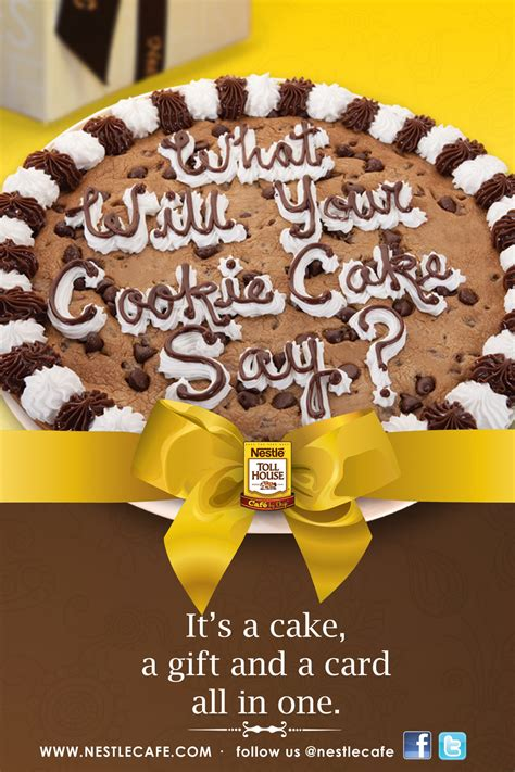 Nestle Toll House Cookie Cake by The Object Of Confection Nestle Toll House Cafe By