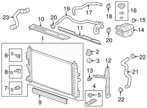 2011 chevy cruze cooling system diagram radiator components parts for 2012 chevrolet cruze gm