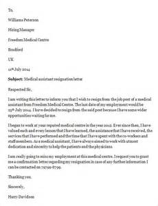Resignation Sle Letters by Sle Resignation Letter Template 14 Free Documents In Word Pdf