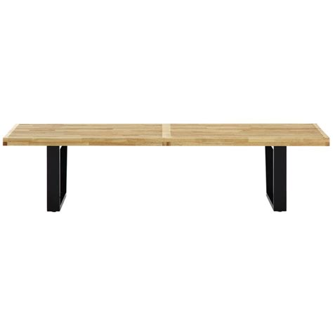nelson bench dimensions samurai double slat bench modern furniture brickell