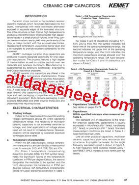 kemet capacitors datasheet cdr01bp330b3w4 datasheet pdf kemet corporation