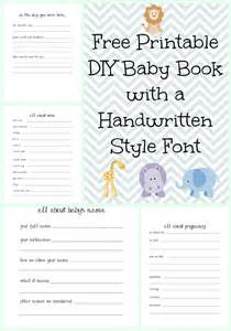 make a diy baby book with a handwritten style font with