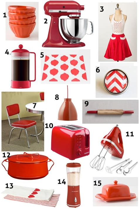 red home decor accessories kitchen accents and accessories red kitchen decor ideas