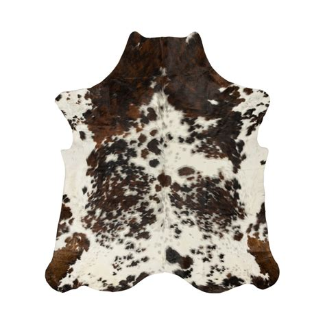 rawhide rugs geniune 100 cowhide rug brown with white spots products