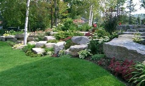 landscaping a large backyard awesome large rock landscaping ideas large rock garden
