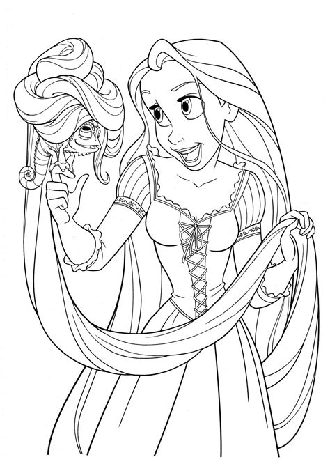 coloring pages tangled free printable tangled coloring pages for kids