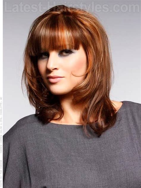 square layers 23 perfect medium hairstyles for square faces popular for