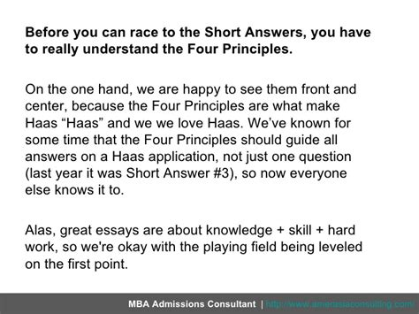 Haas Mba Essay Questions by Breaking The 2012 Answers For Haas