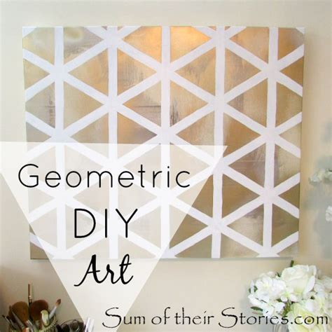 how to do wall painting designs yourself geometric diy art sum of their stories