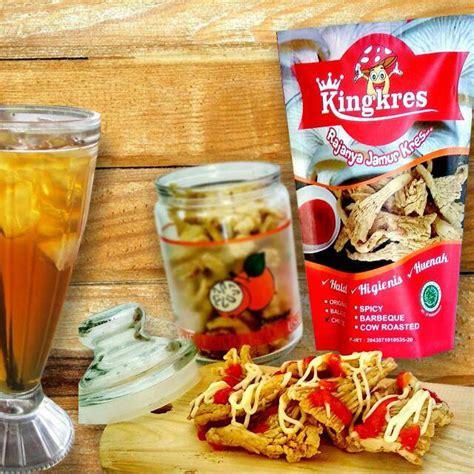 jamur crispy kingkres  pcs distributor cemilan makanan