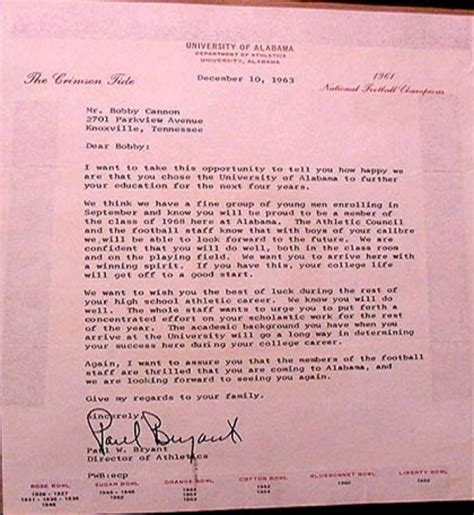 Bryant Acceptance Letter The Bryant Story By Bobby Cannon Chions Of The Table