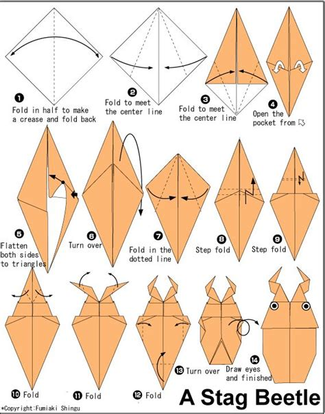 How To Make A Paper Insect - 32 best images about origami on goldfish