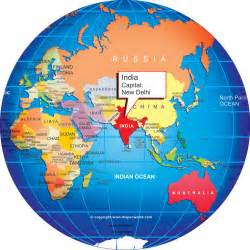 India In Map Of The World by Where Is India World Globe Clipart Best Clipart Best
