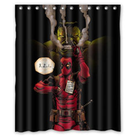 Deadpool Bedroom by Marvel Deadpool Shower Curtain Bathroom Bedroom