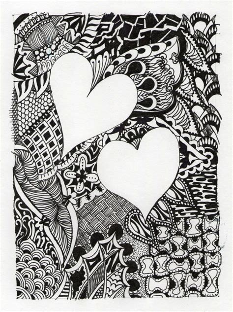 hearts abstract personalized drawing title
