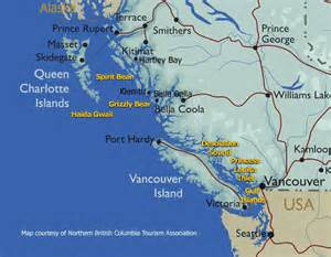 map of canada west coast bc map luxury wilderness adventure tours cruises on bc