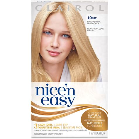 ultra light blonde hair color pictures clairol clairol nice n easy permanent hair color 10