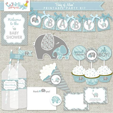 Baby Boy Elephant Themed Baby Shower by Boy Baby Shower Printable Pdf Baby Of Mine