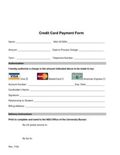 Credit Card Form Generator Cool Credit Card Authorization Form Sle For Printing Business