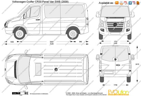 volkswagen crafter back the blueprints com vector drawing volkswagen crafter