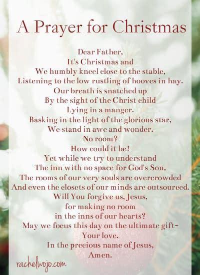 prayer  christmas day rachelwojocom