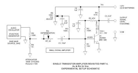 transistor vce single transistor lifier revisited part 4 av rin vs vce
