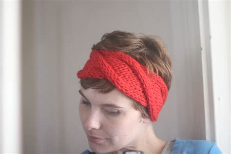 knitting pattern for simple headband cable headband knitting pattern easy the sweatshop of