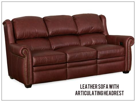 nice leather sofas reclining leather articulating headrest sofas recliners