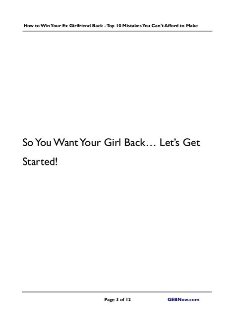 get your ex back how to get your ex back books get your ex back top 10 mistakes you can t