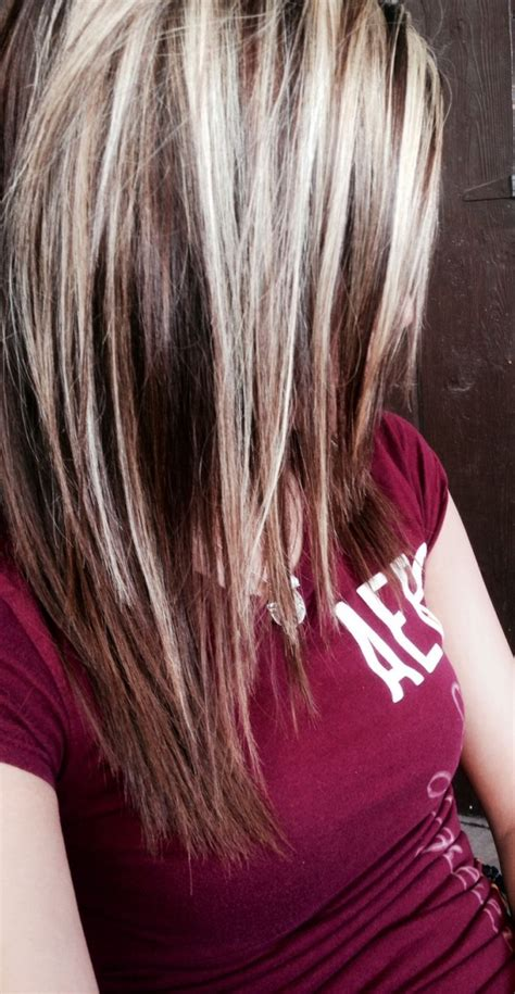 photos of dark blond with light blind higights light brown hair with platinum blonde highlights