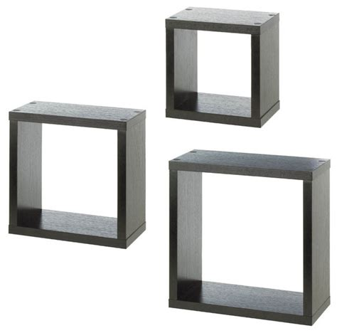 Square Floating Shelf by Square Floating Wall Cubes Display And