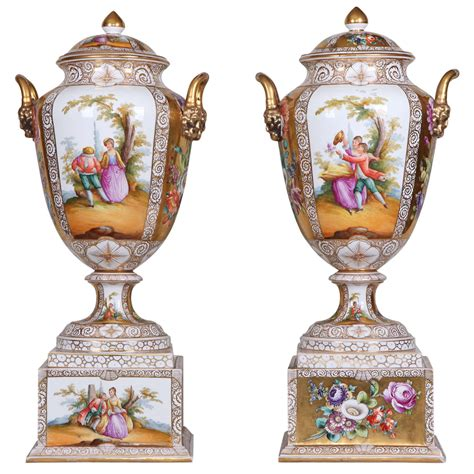 Vases For Sale Near Me Late 18th Century Germain Gotha Pair Of Painted And