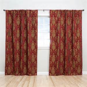 Luxury china art red 84 inch curtain panel pair contemporary curtains