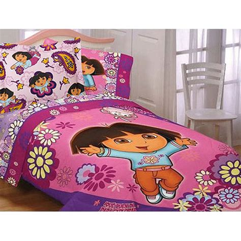 dora comforter dora explorer comforter set twin girls flowers comforter